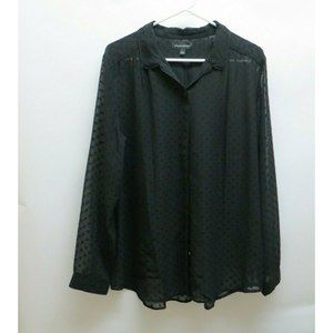 Banana republic Women's black long sleeve blouse